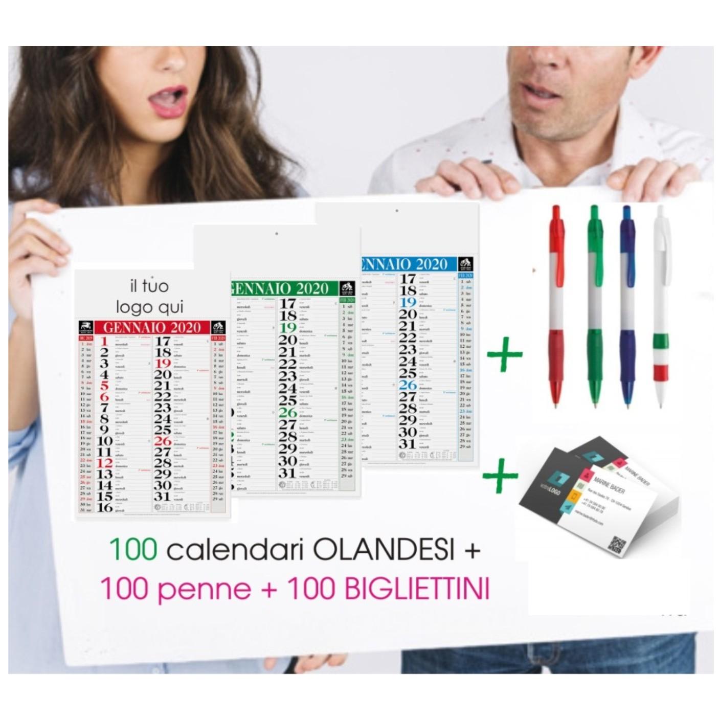Vendita Calendario 2020.I Nostri Kit Gadget Pubblicitari 100 Calendari 100 Penne 100 Bigliettini