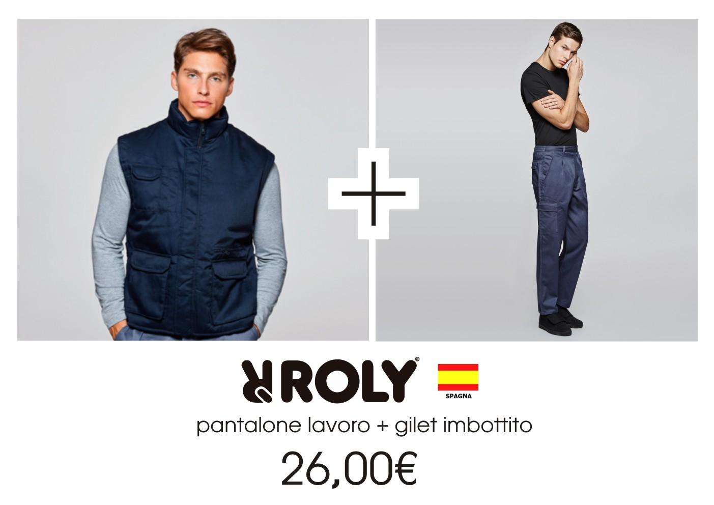 Abbigliamento Lavoro  Gilet + Pantalone Roly 0596081f0eb