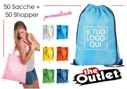 50 sacche + 50 shopper